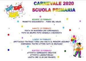 carnevale primaria 2020