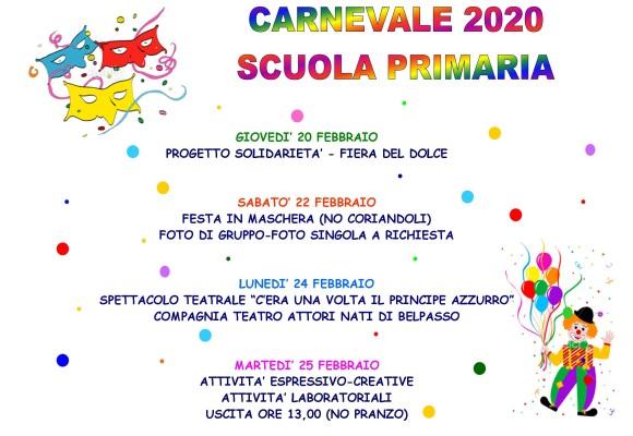 Carnevale … in festa! Scuola primaria